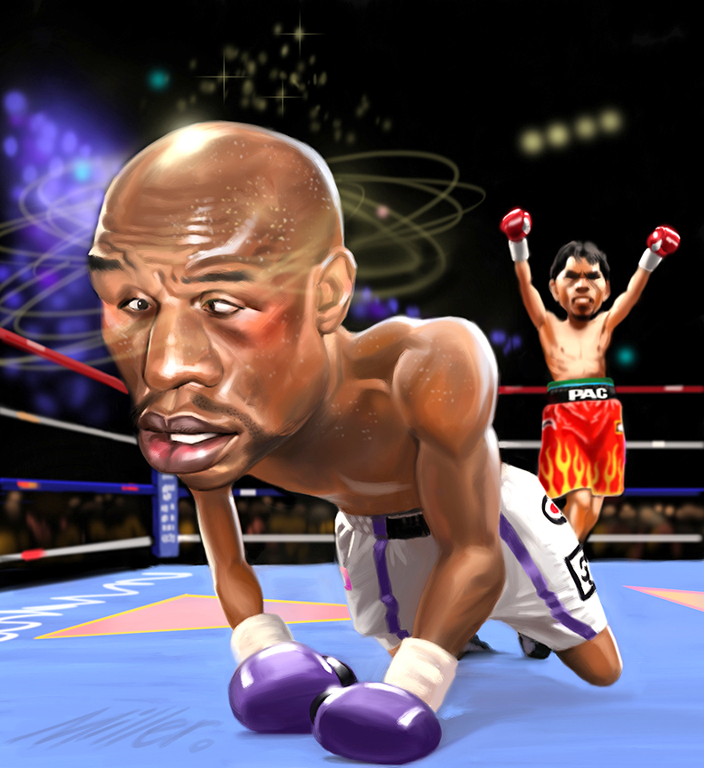 Floyd Mayweather Jr Vs Manny Pacquiao Band Of Artists Storyboard Artists Advertising Film Animatics Illustrators